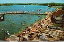 Beach Front Indiana Beach Postcard