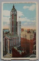 Singer Building NYC Postcard