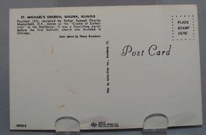 St, Michaels Church Galena Ill Postcard