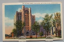 Masonic Temple Detroit Postcard