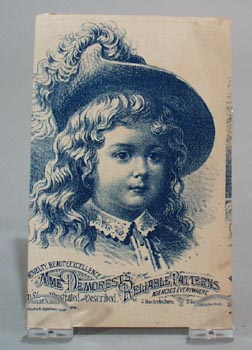Mme Demorests Reliable patterns Trade card