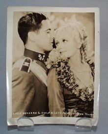 Ramon Novarro & Evelyn Laye publicity photo