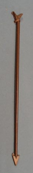 Eagle Drink Stirr stick, copper colored plastic with flying eagle