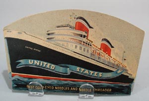 United states gold eyed needles, steamship