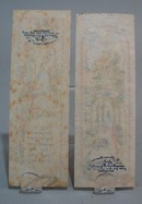 2 rice paper pastel bookmarks, nice designs