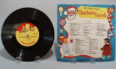 Peter Pan Record X17, Christmas 78rpm