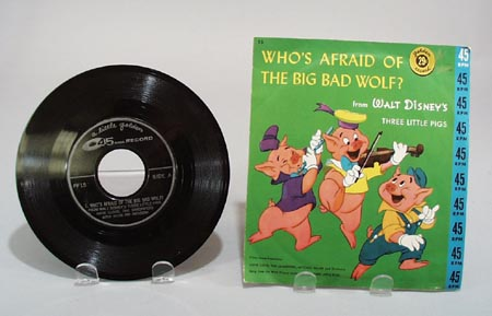 Walt Disney golden record with the Three little pigs