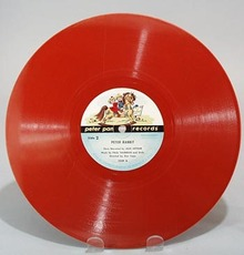 Red Peter Pan record Peter Rabbit narrated by Jack Arthur,
