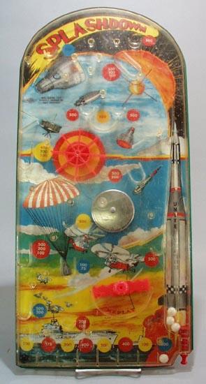 Splashdown, a wolverine pinball toy.