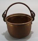 Brass mini pot with iron bail handle