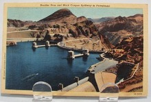 Boulder Dam & Black Canyon Post Card.
