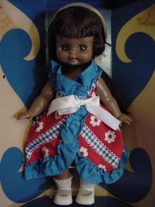 VINTAGE TEENIE BOPPER  BLACK BABY W/BOX