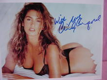 CINDY CRAWFORD SEXY LINGERIE, SIGNED COA