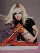 RARE BRITNEY SPEARS W/RED BOOTS, SIGNED COA