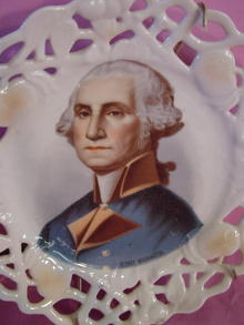Vintage Porcelain George Washington Fancy Plate