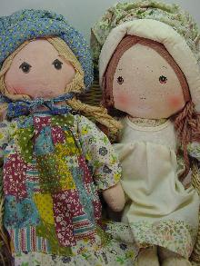 2 VINTAGE HOLLY HOBBY 16IN DOLLS, HOLLY AND HEATHER,