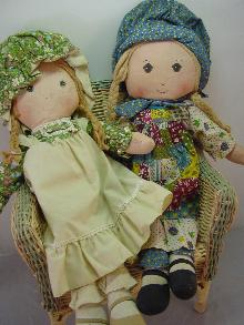 2 VINTAGE HOLLY HOBBY 16IN DOLLS, HOLLY AND AMY, GOOD COND