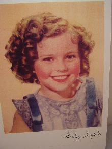 SHIRLEY TEMPLE PHOTO COLOR AUTOGRAPHED REPRINT