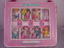 1980's VINTAGE CABBAGE PATCH BRAG CASE W/ CPK FIGURES