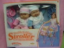 Berenguer Twin Babydolls&Double Stroller, MIB