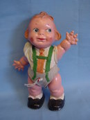 1940's German 7in Googlie-Eyed Celluloid Character, All Original