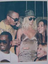 BRITNEY SPEARS, DIDDY, AND FRIENDS 8X10 PIC,RP