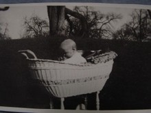 Baby in Basket, Old Photo