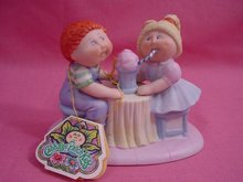 1984 Cabbage Patch, Sharing An Ice Cream Soda Figure, Tagged, MIB