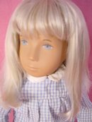 Vintage Blonde Sasha gingham, Trenton, Eng, Exc