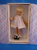 Effanbee Blonde Patsyette in White, Mint in Box