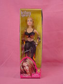 Rare Britney Spears, Black Pantsuit w/Flames, 11/2in Doll, MIB
