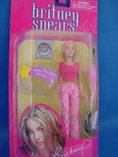 Britney Spears Rare 6 in Doll in Pink Outfit, MIB