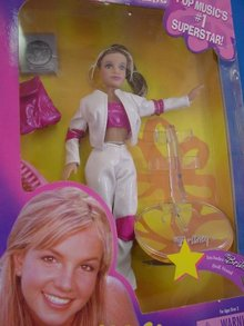 Britney Spears Live in Concert 11 1/2 in Doll, White& Pink, MIB