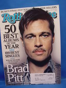 Rolling Stone Magazine, Jan 2009, Brad Pitt Cover, Excellent
