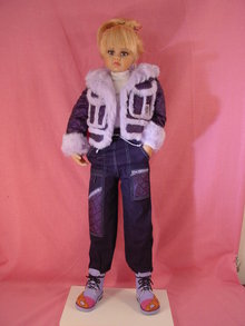 Ski Bunny  Fleur Vinyl Collectors Doll by Jan Mclean, MIB