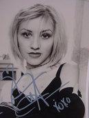 Cristina Aguilera 8X10 Genie in the Bottle Photo Signed, Reprint