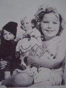 Shirley Temple with 2 Lenci ST Dolls, 8X10, Reprint