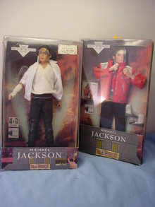 Michael Jackson Singing Doll & Beat It Outfit, Excellent
