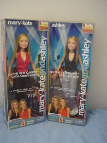 Mary Kate and Ashley Olsen Twins On the Red Carpet Dolls