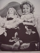 Collection of 4 Young Shirley Temple with Dolls  8X10 Photos, RP