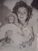 Collection of 4 Young Shirley Temple with Dolls#2  8X10 Photos, RP