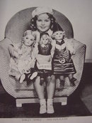 Collection of 4 Young Shirley Temple with Dolls#1  8X10 Photos, RP