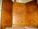 Small French Leather  Painted Panels