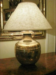 Pr. Contemporary Brass Lamps