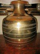 Pr. Contemporary Brass Lamps