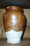 Turkish Glazed Clay Jug
