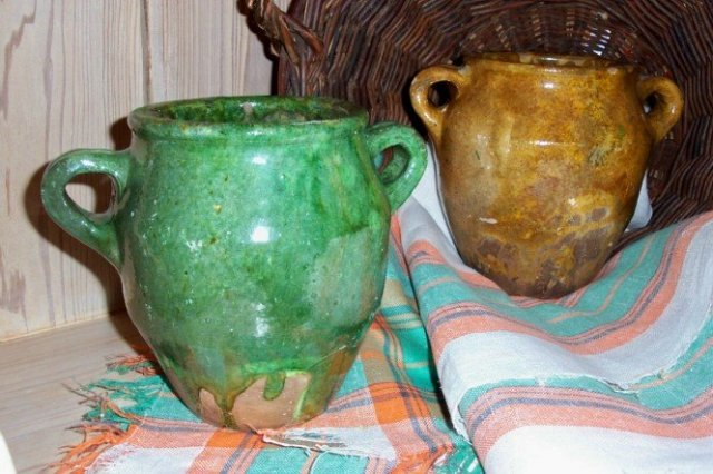 Pr. Turkish Glazed Pots