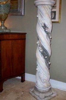 XIX Century French White Marble Pedestal