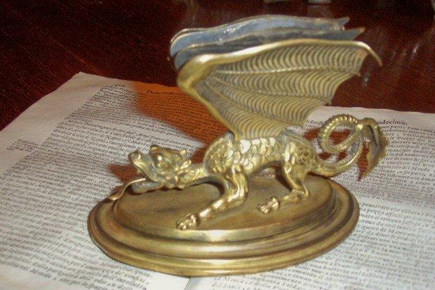 XIX Century Bronze Letter Holder