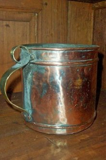Copper Plated Tin Pot with Handle